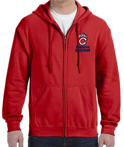 Chaparral Basketball Full Zip Hoodie - Monograms by K & K
