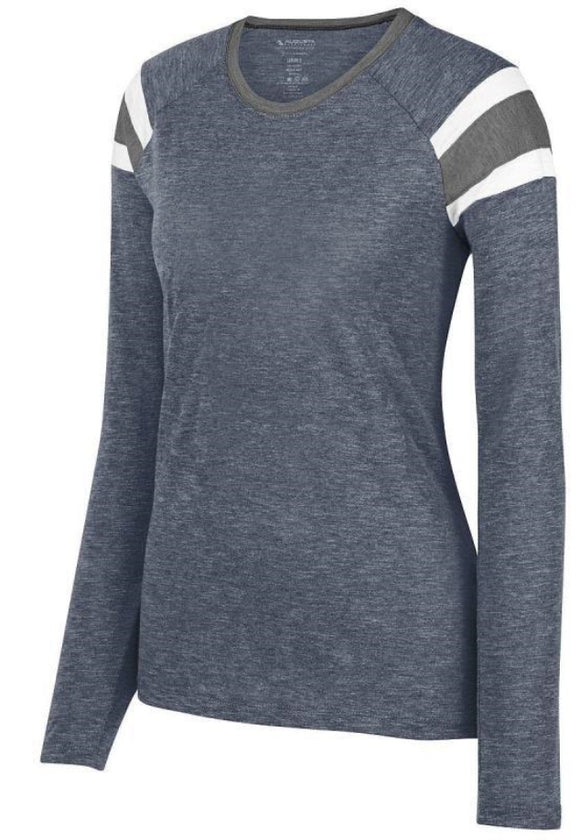 Parker Jets Ladies Long-Sleeve Tee-Plain Vinyl Designs - Monograms by K & K