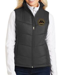 Colorado Skating Club Ladies Puffy Vest - Monograms by K & K