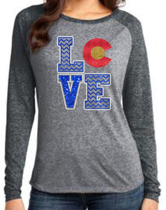 Love Colorado Long-Sleeve Shirt - Monograms by K & K