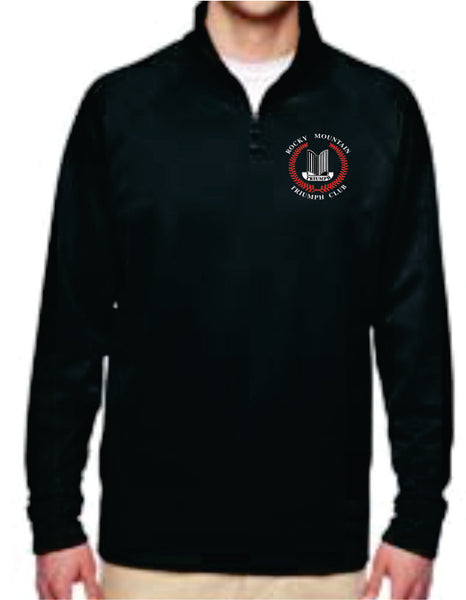 Rocky Mountain Triumph Club Adult 1/4 Zip Jacket - Monograms by K & K