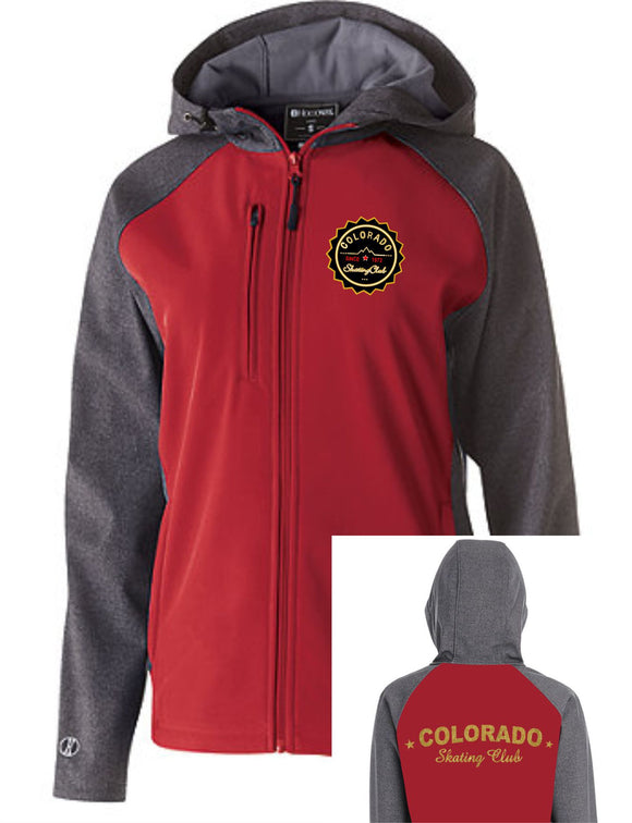 Colorado Skating Club Ladies Soft Shell Jacket - Monograms by K & K