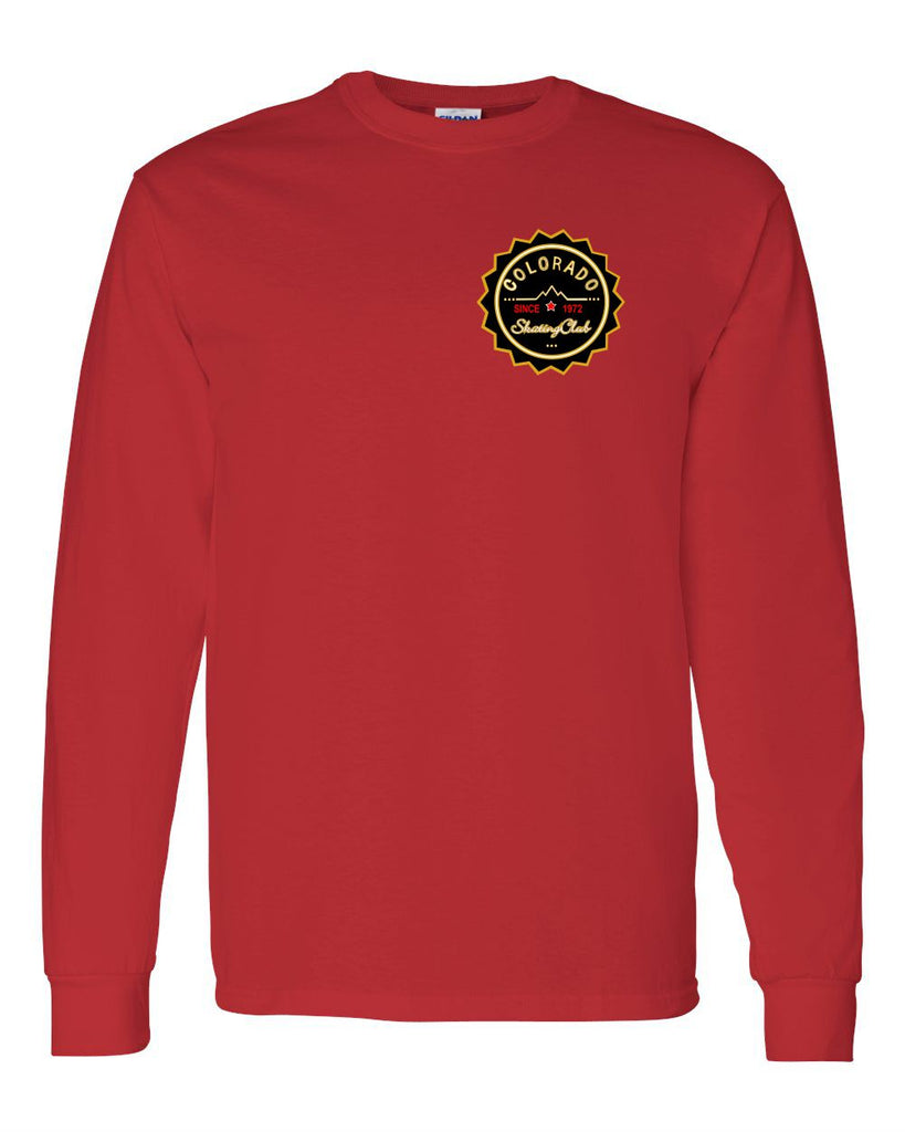 Colorado Skating Club Adult  Long-Sleeve T-Shirt - Monograms by K & K