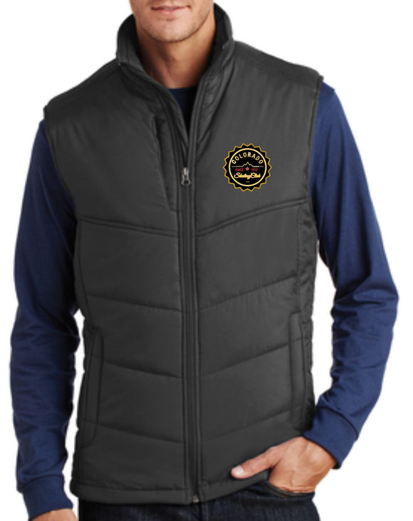 Colorado Skating Club Adult Puffy Vest - Monograms by K & K