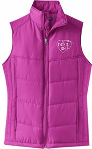 Douglas County Nurses Ladies' Puffy Vest - Monograms by K & K