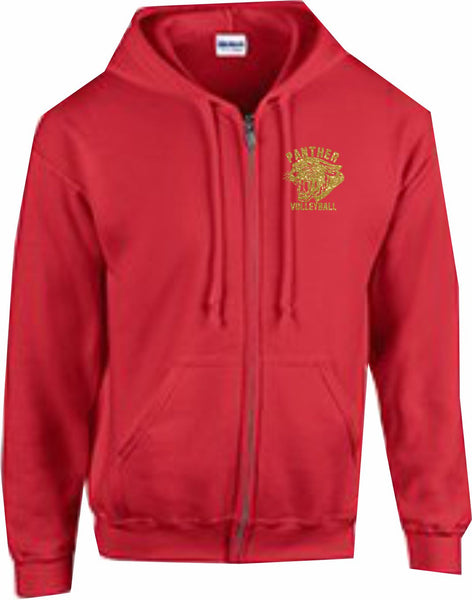 Panther VB Full Zip Hooded Sweatshirt - Monograms by K & K