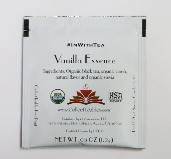 PoliTEAcal Teas: Hillary ClinTEAn Vanilla Essence Tea Packs