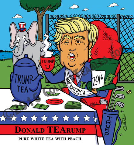 PoliTEAcal Teas: Donald TEArump Pure White Tea With Peach Tea Packs