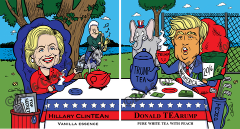 PoliTEAcal Teas: Bi-Partisan pack (Hillary & Trump)