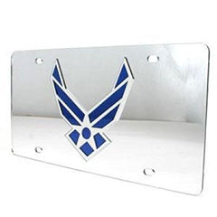 Air Force Falcons Inlaid Acrylic License Plate - Silver