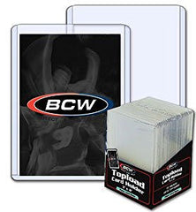 25 - BCW 3 x 4 x 2 mm - Thick Card Topload Holder 79 Point - Baseball & Other Sports Cards - Collecting Supplies