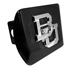 "Baylor University Bears ""Black with Chrome BU Emblem"" NCAA College Sports Trailer Hitch Cover Fits 2 Inch Auto Car Truck Receiver"