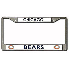 NFL Chicago Bears Chrome Licensed Plate Frame
