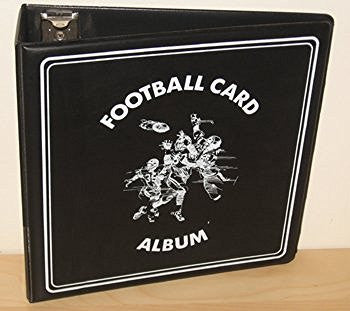 Buy 1 (One) NFL Football Trading Cards Collection Album Heavy Duty Black Binder BCW 3 Inch D Ring