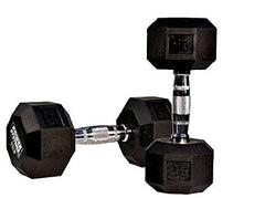 10 lb. Rubber Coated Hex Dumbbell
