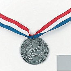 """2Nd Place"" Silver Medal (6 pieces) - Bulk"