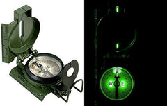 U.S. Issue Mil-Spec Tritium Illuminated Aluminum Military Lensatic Marching Compass