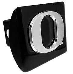 "Oregon Ducks ""O"" Black Metal NCAA Trailer Hitch Cover Fits 2 Inch Auto Car Truck Receiver"