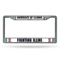Illinois Fighting Illini Chrome Frame