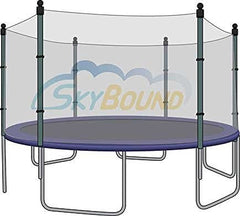 12' Trampoline Enclosure Safety Net for 6 Straight Poles fits Airzone, Variflex
