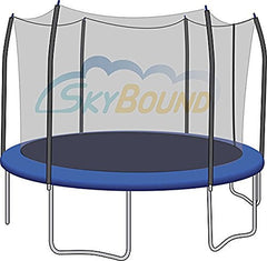 12' Trampoline Enclosure Safety Net for 6 Straight Curved Poles fits Skywalker