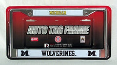 Michigan Wolverines Chrome Frame