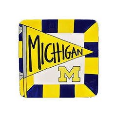 "8"" University of Michigan Ceramic Flag Square"