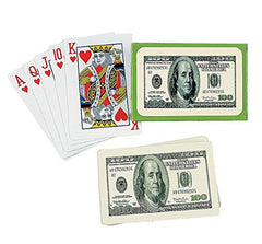 $100 BILL PLAYING CARDS (1 DOZEN) - BULK