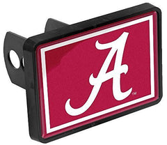 Alabama Crimson Tide A Universal 1-1/4 x 2 Inch Hitch Cover Fits 2 Inch Auto Car Truck Receiver