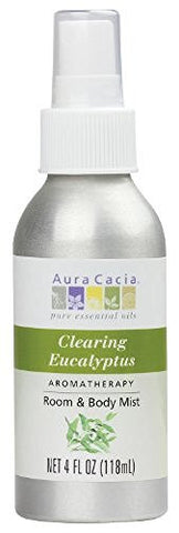 Aura Cacia Room and Body Mist, Clearing Eucalyptus, 4 Fluid Ounce