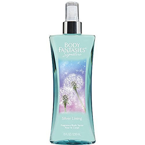 Body Fantasies Signature Fragrance Body Spray, Silver Lining, 8 Fluid Ounce