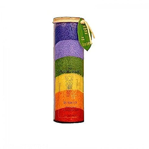 Aloha Bay Unscented Chakra Jar Rainbow Sri Yantra Candle