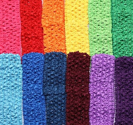 "1.5"" Crochet Headband Variety Pack in Bright Colors"