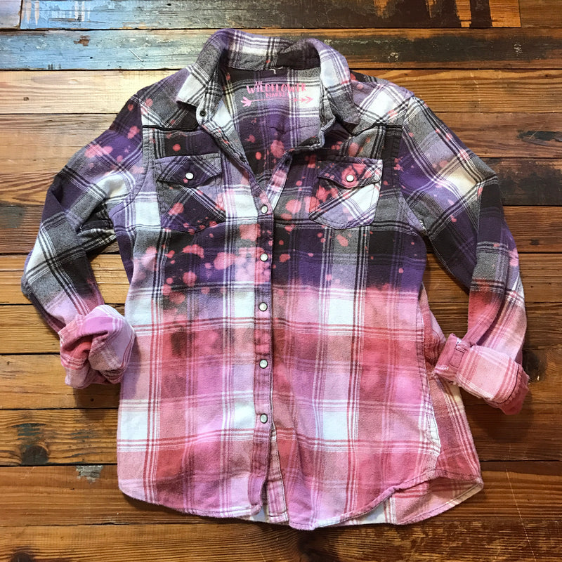 Pink Flash Galaxy Flannel