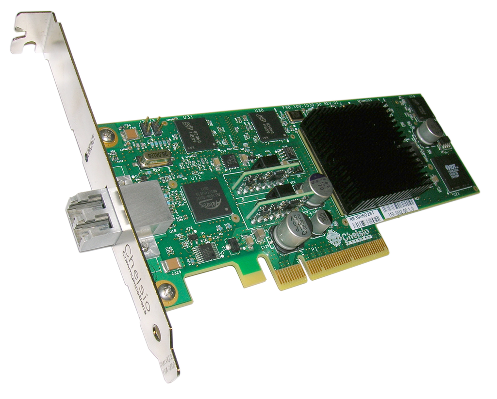 S310e-SR: 1-port Low Profile 10GbE Storage Accelerator with  PCIe 1.1 x8 Interface, 10GBASE-SR