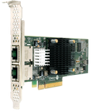 T520-BT: 2-port Low Profile 1/10GbE Base-T Unified Wire Adapter with PCIe 3.0 x8 Interface, 32K connections, RJ45 connector
