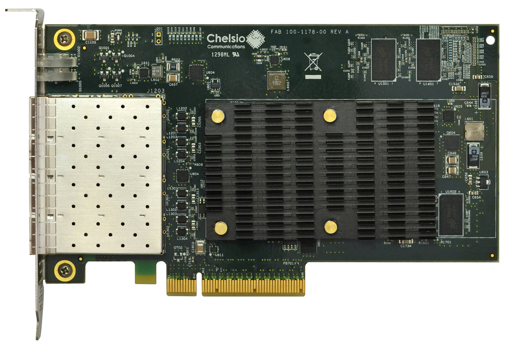 T540-CR: 4-port Half Size 1/10GbE Unified Wire Adapter with PCIe 3.0 x8 Interface, 32K connections, SFP+ connector