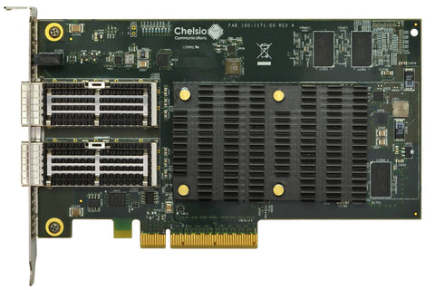 T580-CR: 2-port Half Size 10/40GbE Unified Wire, Enhanced TOE & iSCSI Adapter with PCIe 3.0 x8 Interface, 32K connections, QSFP connector