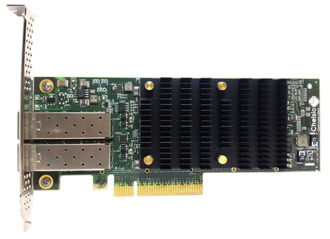 T6225-SO-CR: 2-port Low Profile 10/25GbE Converged Network Adapter with PCIe 3.0 x8 Interface, SFP28 connector