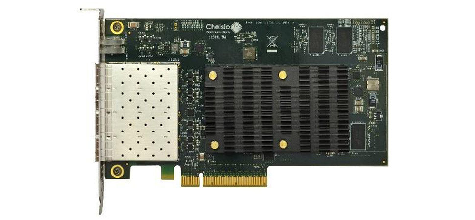 T6425-CR: 4-port Half Size 10/25GbE Unified Wire Adapter with PCIe 3.0 x8 Interface, 32K connections, SFP28 connector