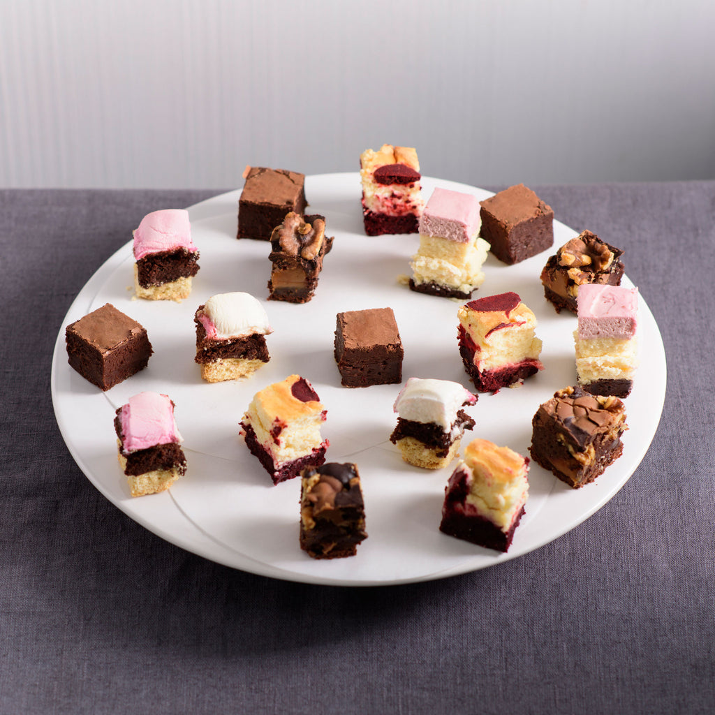 Brownie and Cheesecake Bites Platter