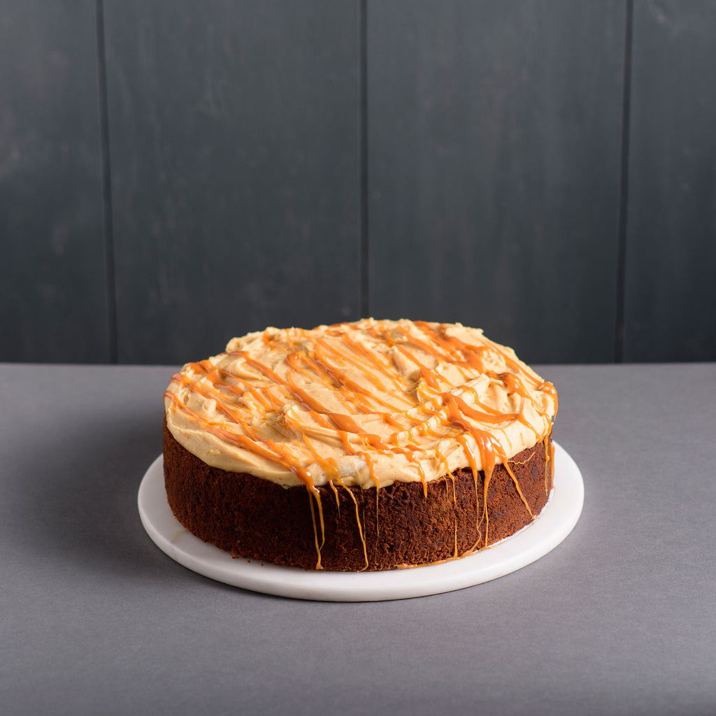 Salted Caramel Walnut Cake
