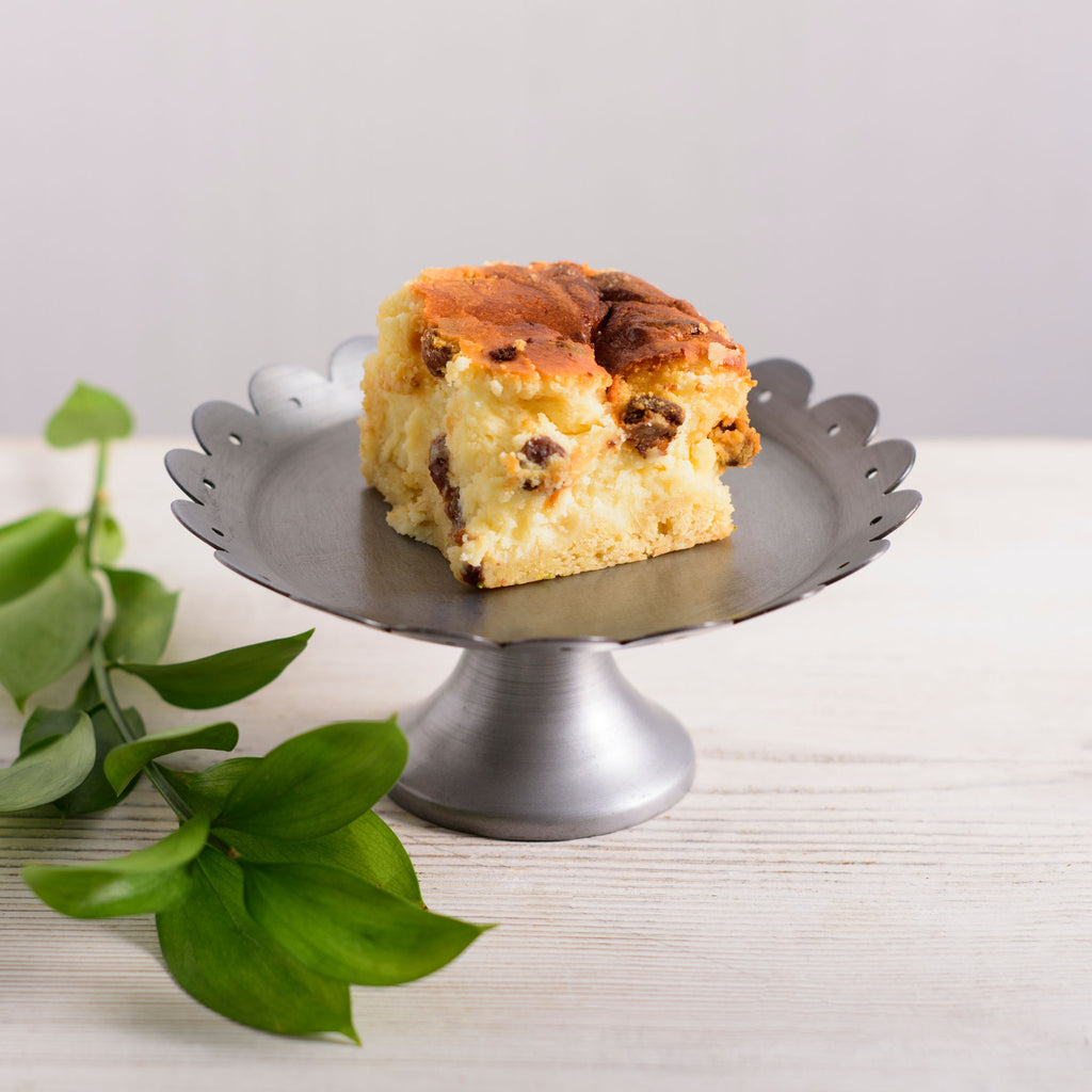 Traditional Baked Cheesecake - with Orange and Sultanas
