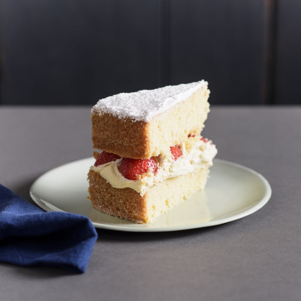 Victoria Sponge with Seasonal Berries and Fresh Cream