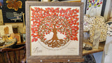 Tree of Life Guest Book - Red