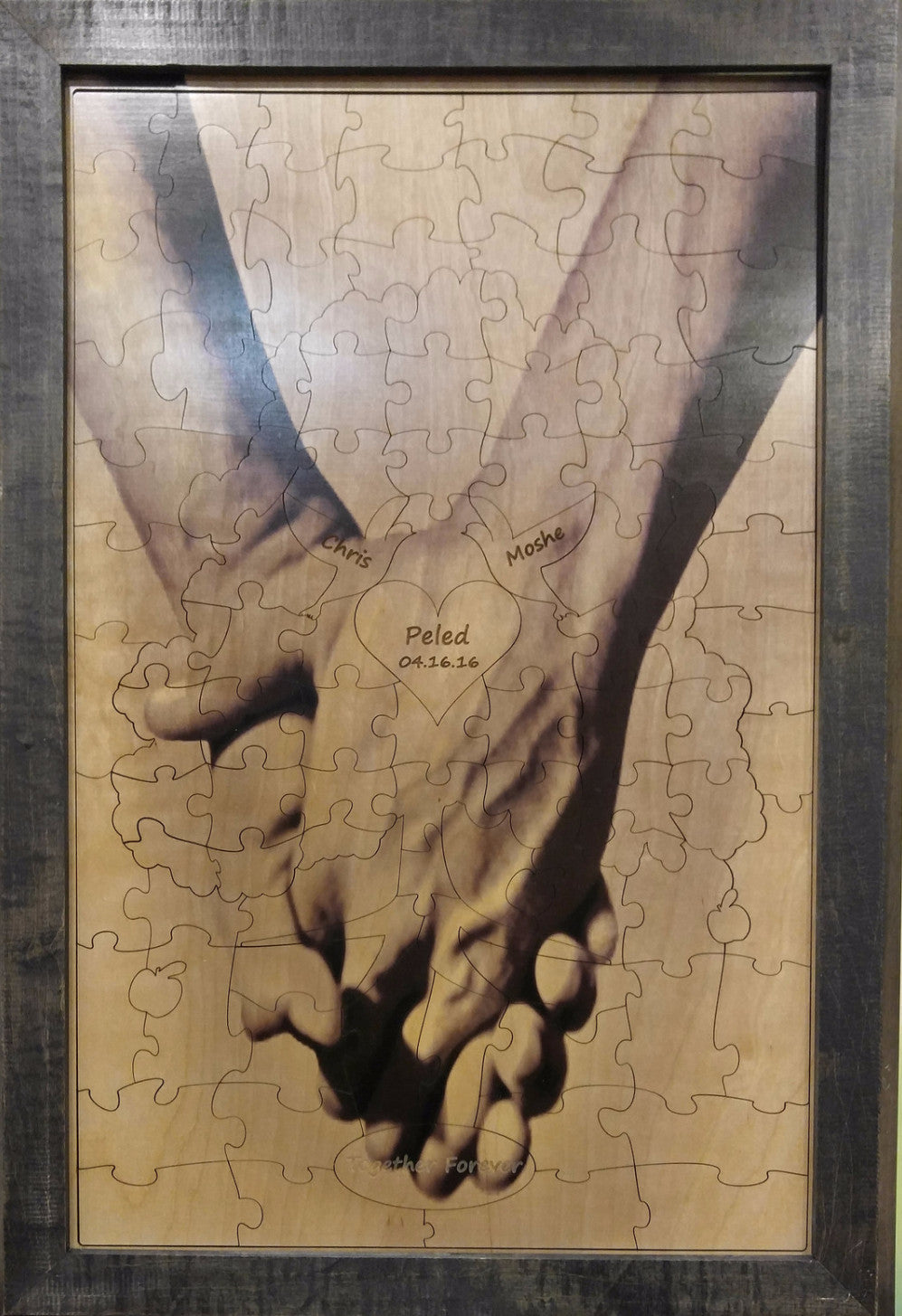 Male Hand in Hand Forever Tree