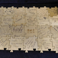 Custom Sweetheart Puzzle Wooden Guest Book