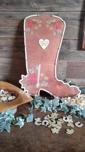 Western Boot Guest Book