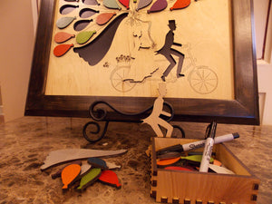 Bicycle For Two Wedding Guest Book