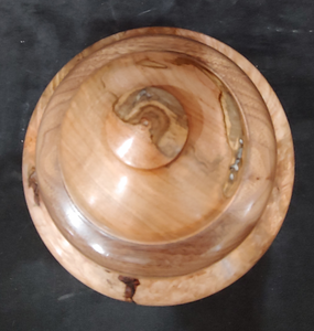 Hand Turned Ambrosia Maple Cremation Urn